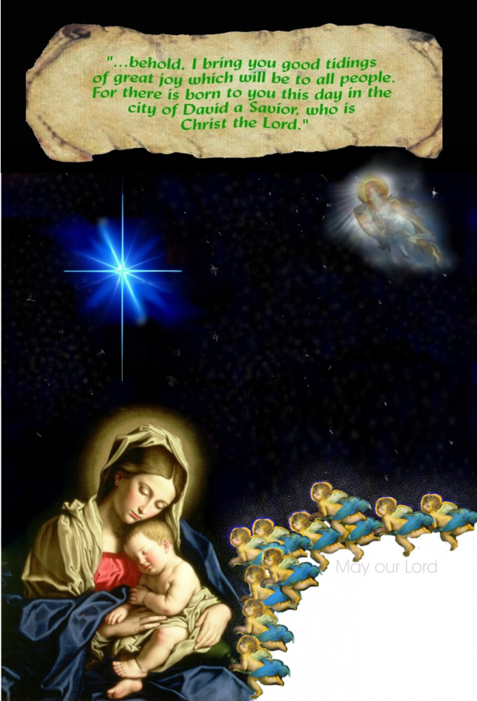 Merry Christmas from OUR LADY FOR LIFE  ! AngelsadoringwithoourQueenandMother_zps5df69265