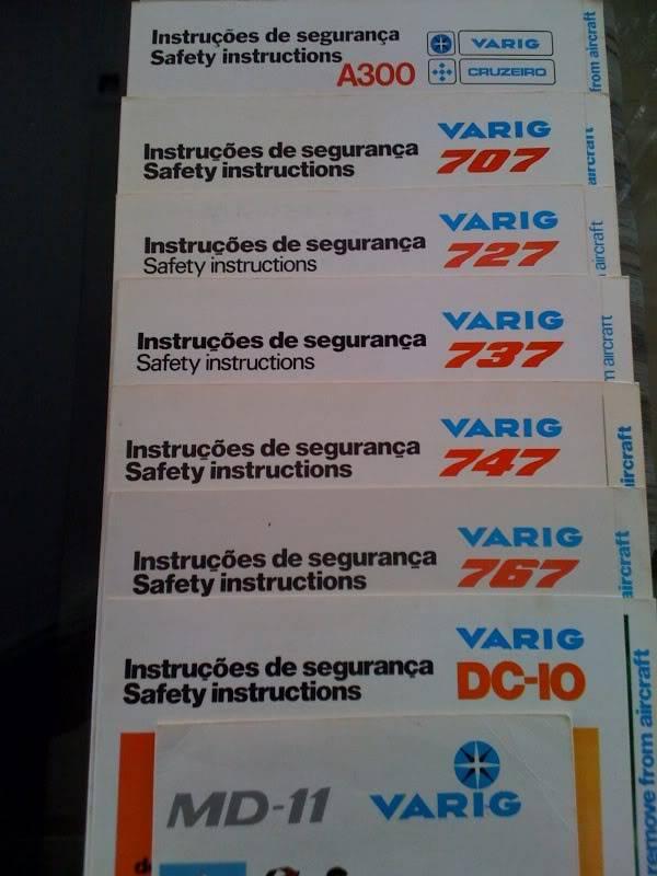 Varig - Nostalgia dos cartões de emergência Photo