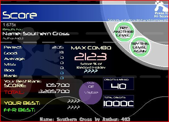 oh hey wc plays ffr again(on vista) Southerncross