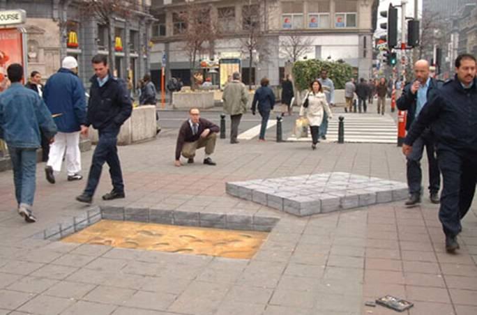 đẳng cấp tranh 3D đường phố Blocks