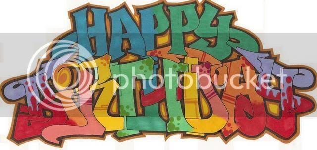 Felicidades Kapi HappyBirthday-graffiti
