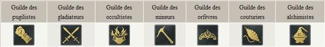 Cartes, Ennemis, Rang de competences Guildes_uldah