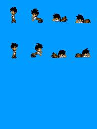 Alguns personagens para dragon ball. Gohanfall