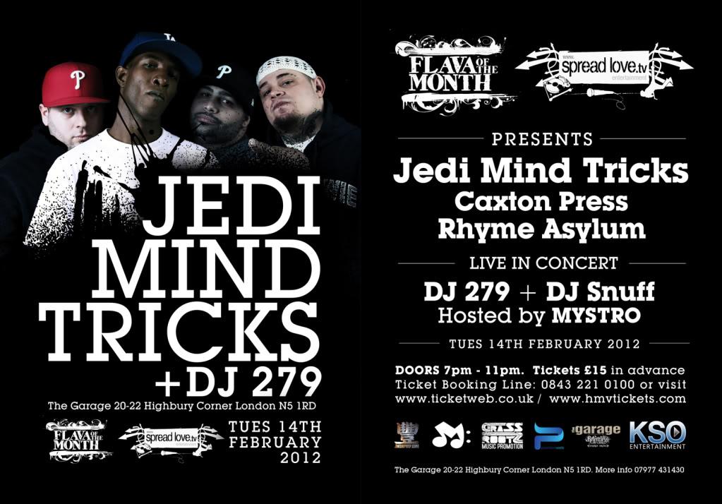 Jedi Mind Tricks - Live in London 14th Feb 2012 JMTE-FLYERSMALL