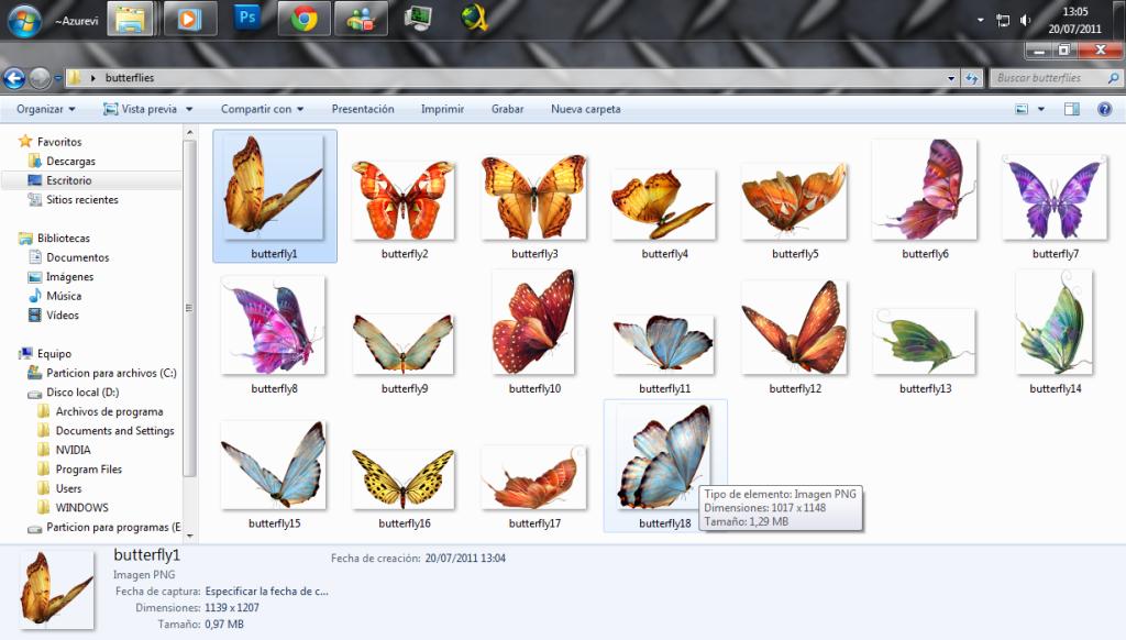 Mariposas decorativas y vectores [MU] Mariposas