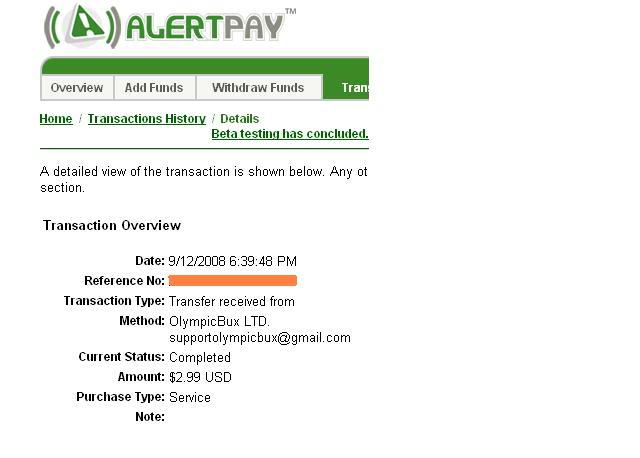 MY FIRST PAYMENT IN 3 HOURS OLYMPIC