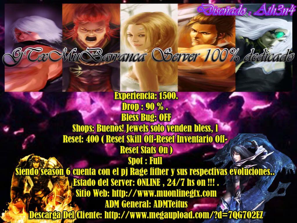 GTxMuBarranca Season6 episodio 2 www.muonlinegtx.com Publicidad