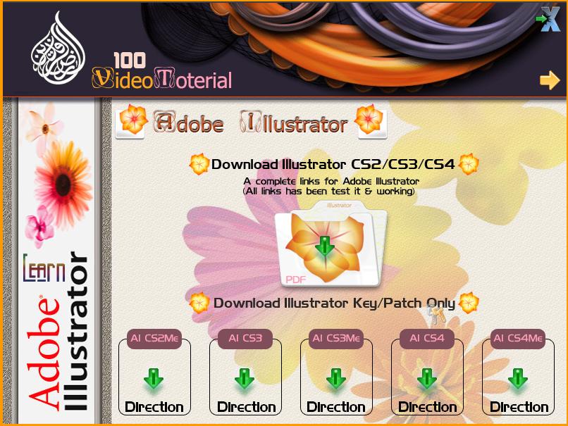 أسطوانة أرض الرافدين شاملة لتعليم برنامج illustrator بالفيديو 1-14