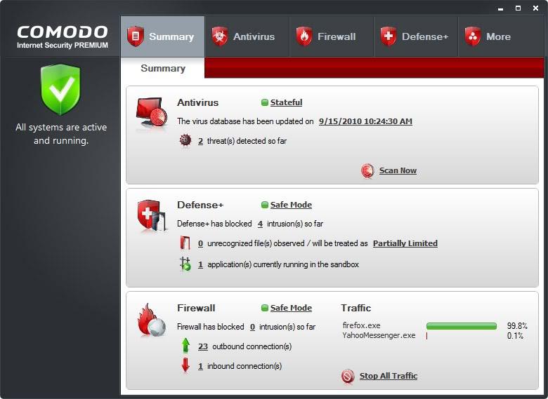 برنامج Comodo Personal Firewall v5.10.228257.2253 مجاني Comodo