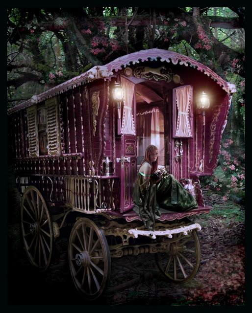 Fantasy und Mittelalter Glittergifs^^ GypsyWagon