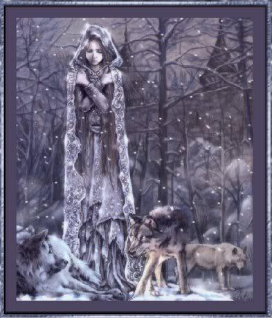Fantasy und Mittelalter Glittergifs^^ WinterWolfmaiden