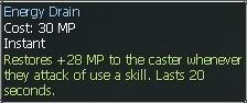 New race character skills: Anuran EnergyDrain2