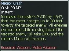 New race character skills: Anuran MeteorCrash2