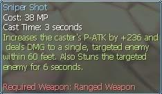 New race character skills: Halfkin   SniperShot2
