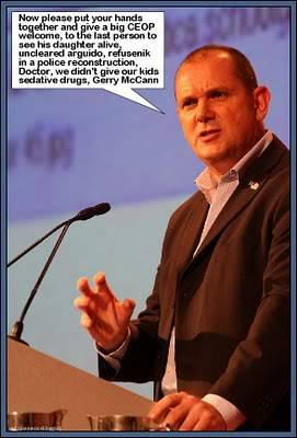 Jim Gamble resigns and Gerry McCann talks about the 'value of our children.' GambleandGerry-1