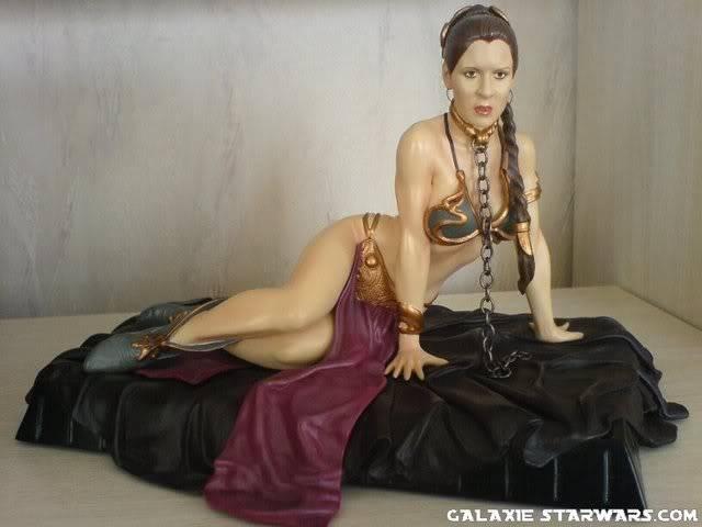 Princess Leia as Jabba's Slave Statue Dsc0021532