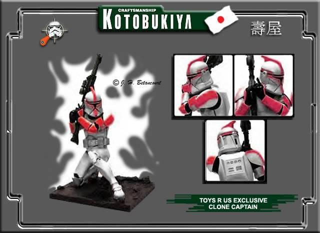 Clone Trooper Rouge LIMITED EDITION 2003 ARTFX Statue KOTOBUKIYA_2002_H_CLONE_TROOPER_RED