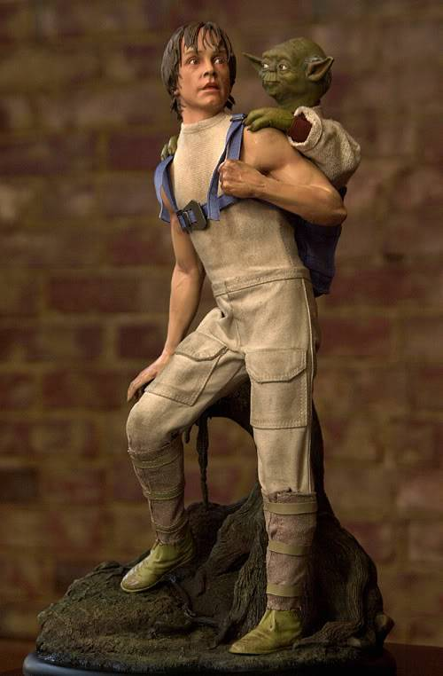 Luke & Yoda - Dagobah Training 1/4 Premium Luke1