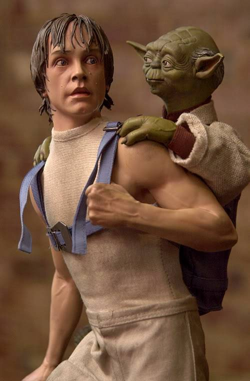 Luke & Yoda - Dagobah Training 1/4 Premium Luke3