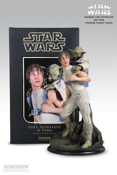 Luke & Yoda - Dagobah Training 1/4 Premium Yo2