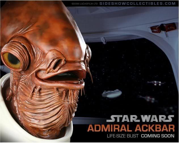 Admiral Ackbar life size Bust Image5-2