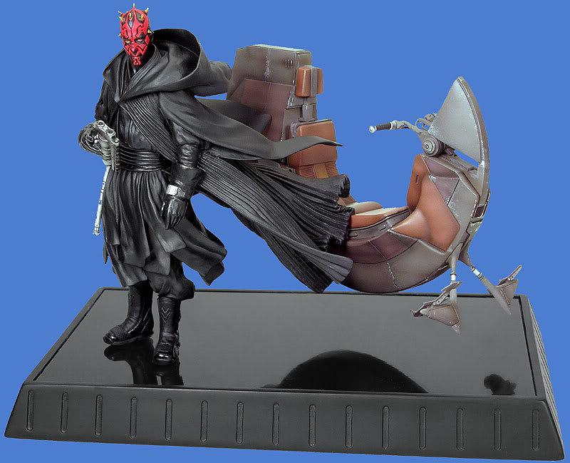 Darth maul and speeder statue Maul