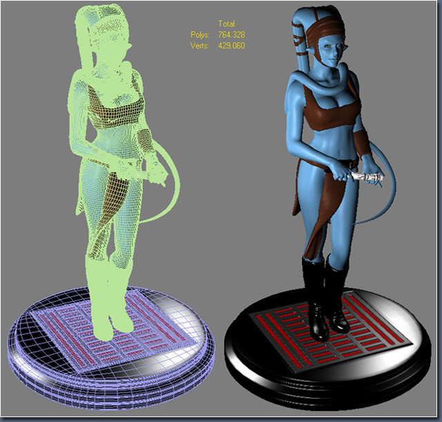 Aayla Comiquette Character Modeling Fig09_poly_vertices_count