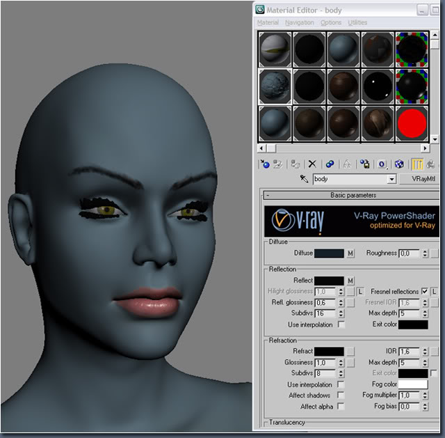 Aayla Comiquette Character Modeling Fig11_texture_vray