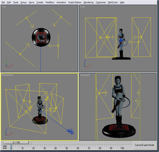 Aayla Comiquette Character Modeling Fig12_camera_angles