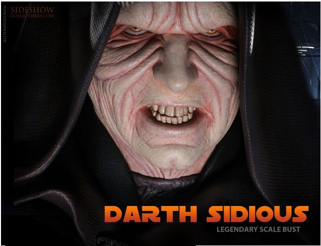 Sideshow - Darth Sidious Legendary Scale Bust – Star Wars  Sidious-1