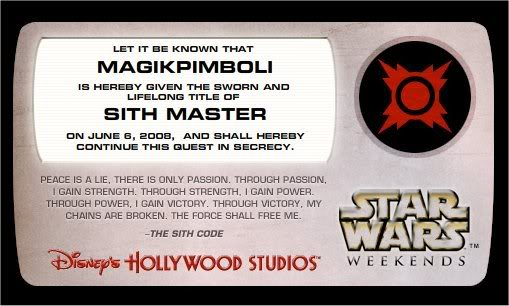 Star Wars Weekends 2008 Disney's Hollywood Studios Sithmagik