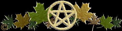 autumn pentagram divider, autumn pentagram divider