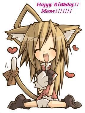 Happy Birthday Celica! Animecatgirlhappybirthday
