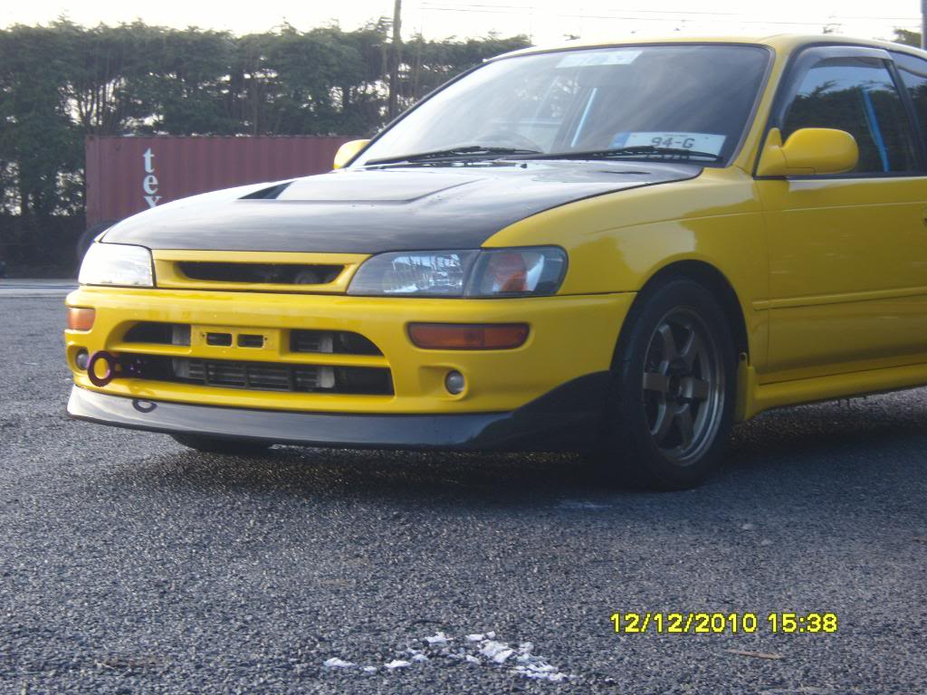 Dara's yellow 3S-GTE corolla (conversion done by paul) S1031419