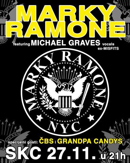 Marky Ramone(ex-Ramones),Michael Graves(ex-Misfits) MARKYPLAKATwebzaprikaz