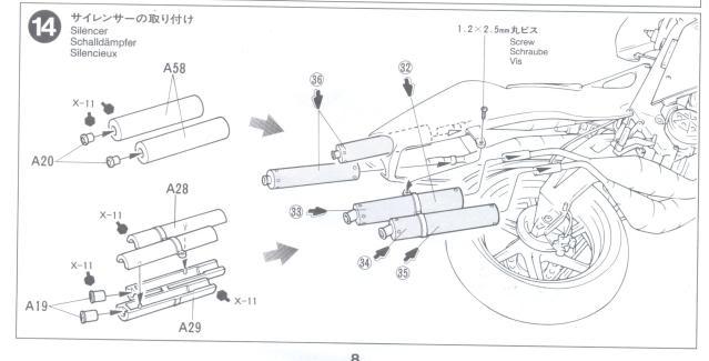 HONDA NSR500 REPSOL MOVISTAR 1/12 TAMIYA - FUERA DE CAJA PASO-14