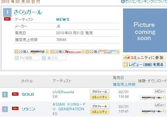 Gold en el oricon chart¡¡ Oricon_20100330