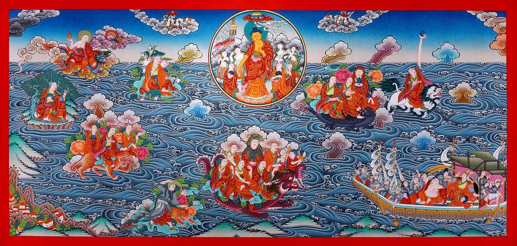 Maha Vaipulya Mahasamnipata Bhadrapala Bodhisattva Parivarta Nama Mahayana Sutra 18%20arahat%20crosing%20ocean