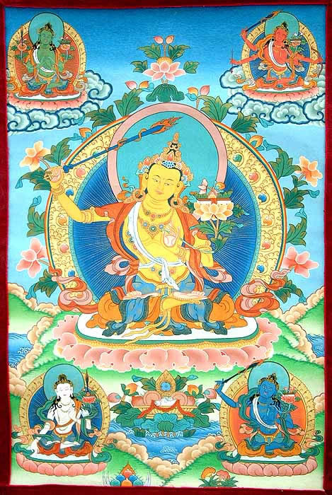 Maha Vaipulya Mahasamnipata Bhadrapala Bodhisattva Parivarta Nama Mahayana Sutra 5Manjushri