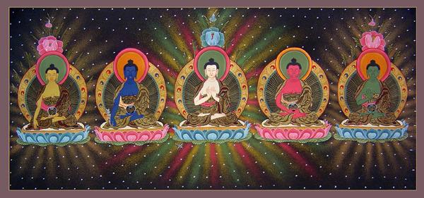 Arya Sri Lalitavistarah Maha Vaipulya Nama Dharmaparyaya Mahayana Suttram Five%20Dhyani%20Buddhas