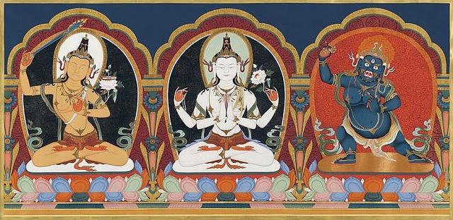 Ārya Gambhīra Samdhinirmocana Nama Mahayana Sūtra Tīkā Manjusri%20Avalokitesvara%20Vajrapani