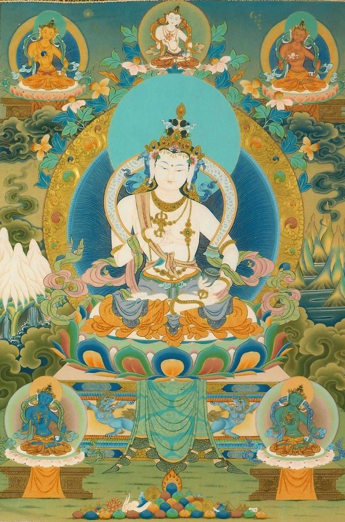 Sarvadharma Mahasandhi Samantabhadra Bodhichitta Vajra Kulaya Rāja Maha Tantraraja Nama Mahayana Sutra Vajrasattva-Beckys-thangka