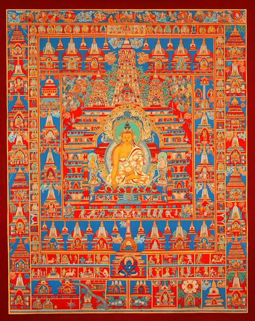 Maha Vaipulya Mahasamnipata Bhadrapala Bodhisattva Parivarta Nama Mahayana Sutra Buddha-shakyamuni-sh_2%20infront%20of%20mahabodhitemple