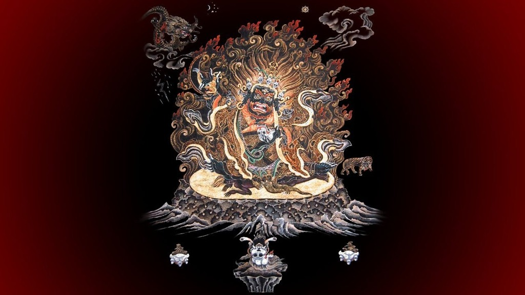 Ārya Gambhīra Samdhinirmocana Nama Mahayana Sūtra Tīkā Mahakala%20ah%20hum%20phat