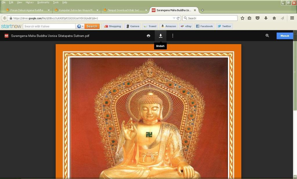 Tempat Download Kitab Suci Buddha Sasana (Suttra) Save