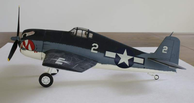 Some airplane models I have built over the years Hellcat2