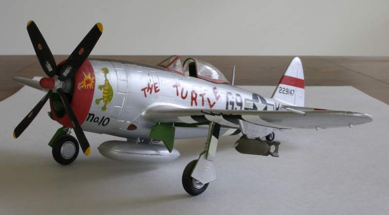 Some airplane models I have built over the years Thunderbolt1