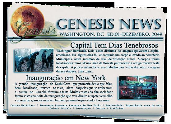 Edição de Dezembro de 2049 Genesiscap