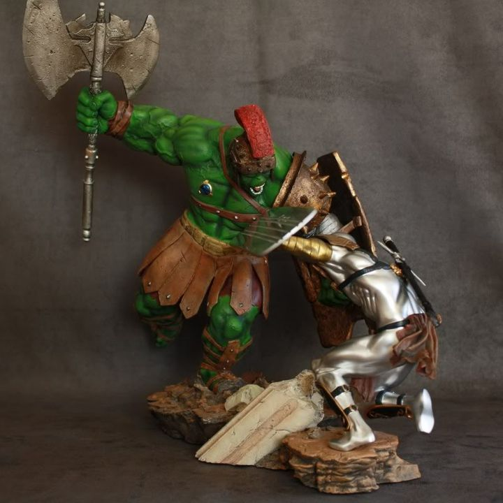Marvel Planet Hulk Green Scar VS Silver Savage IMG_4608