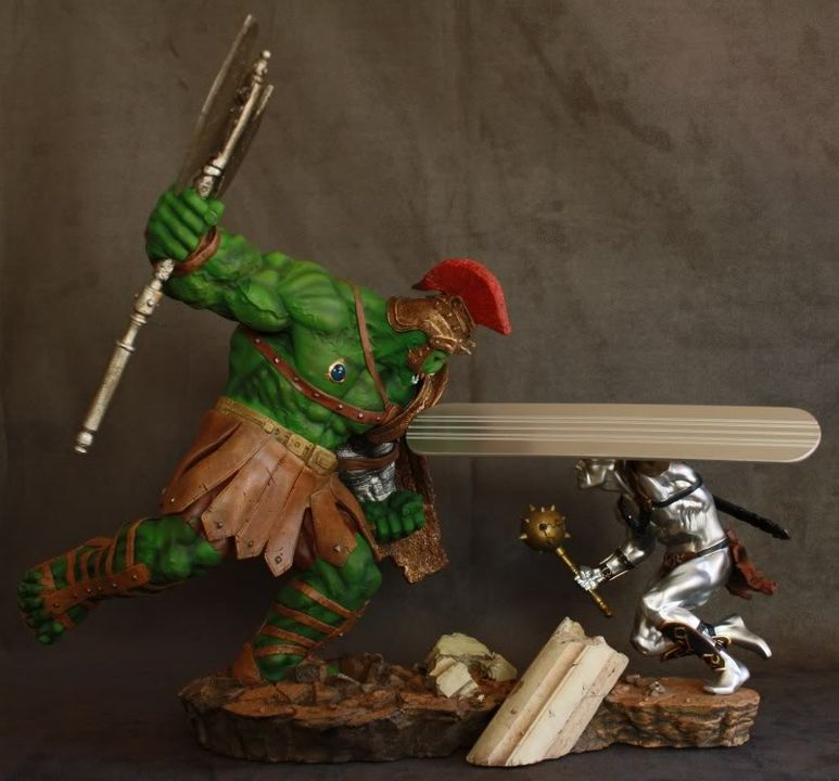 Marvel Planet Hulk Green Scar VS Silver Savage IMG_4611-1